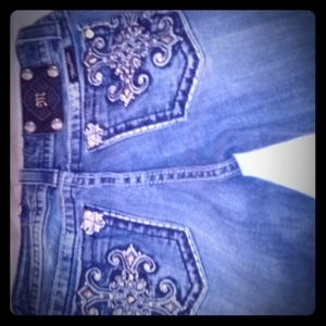 Miss Me Jeans Thick Stitch Size 28